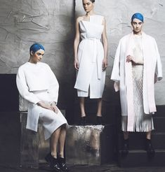And neither are the clothes we'll be wearing when looking at the earth from the moon. We get a taste of what they could be like with the AW collection of Atelier Kikala, directed by Georgian designer Lado Bokuchava. Foto Fashion, Girl Fashion, Winter 2014 2015, Aw 2014, Geometric Fashion, Conceptual Fashion, Fashion Details, Fashion Design, Student Fashion