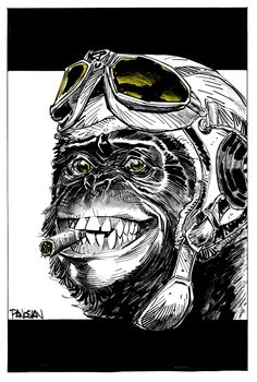 Original FYING MONKEY art by urban-barbarian.deviantart.com on @deviantART
