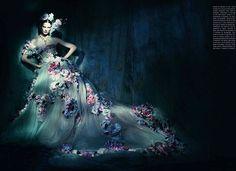 """«В Couture Mood"""" Саския де Brauw Паоло Роверси для Vogue Italia марта 2014"""