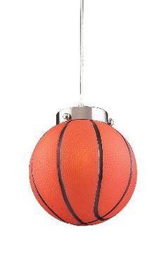 Honor your love for basketball by illuminating your room with the help of the Elk Lighting Novelty 5137 LED 1 Light Basketball Pendant . Mini Pendant Lights, Modern Pendant Light, Pendant Light Fixtures, Pendant Lighting, Pendant Lamp, Kids Lighting, Elk Lighting, Unique Lighting, Lighting Design