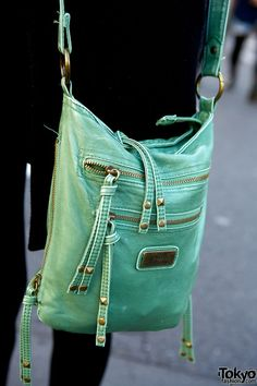 This light green bag is just really cute. I want. I need. #Purse
