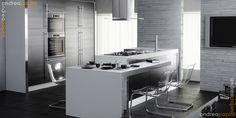 Modern Kitchen Cabinet Hardware: Beauty Fortable White Kitchen Interior Idea, Modern Kitchen Cabinet Hardware #3693 | Graciepi
