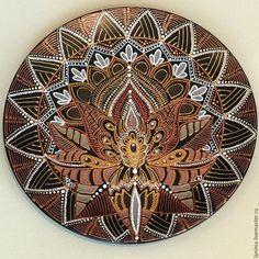 Декоративная посуда ручной работы. Ярмарка Мастеров - ручная работа. Купить Шанти. Handmade. Коричневый, индия, орнамент, тарелка настенная