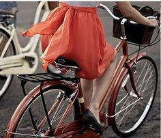 """In the french movie, girls riding bike with a skirt like this, it always lead me to """"Romance"""" directly...not the proposing part, not when the """"I love you"""" came out."""