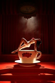 Honey Lulu's fabulous teacup Burlesque show. http://bigfootevents.co.uk/entertainment/Themed-Events/Burlesque-Themed-Night.aspx