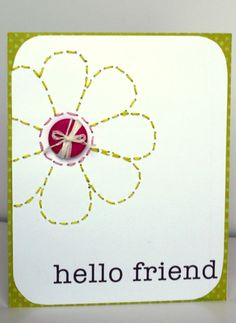 Simple and cute card -- love the stitching