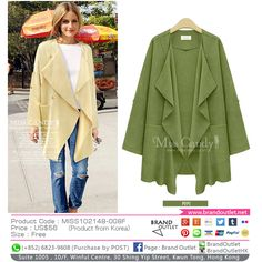 Product Code: MISS102148-008F Item Description: MissCandy Khaki Classic Coat Price: US$56 Size: Free WhatsApp: (+852) 6823-9608 (Purchase by POST) Tel: (+852) 3188-4878 Address: Suite 1005 , 10/F, Winful Centre, 30 Shing Yip Street, Kwun Tong, Hong Kong Website: www.brandoutlet.com.hk Facebook: Brand Outlet Email: info@brandoutlet.clothing #korea #koreaclothes #koreanfashion #koreanmodel #madeinkorea #onlineshop #onlineshopping #summer #style #dress #top #seoul #onepiece #brandoutlet…