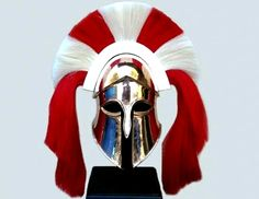 Armour & Weapons :: Full Size Helmets :: Spartan Officer's Full Size Helmet - Ancient Greek Spartan life size helmet. Helmets with transverse crests were worn by the captains of the famous Spartan phalanx. Dated 450 B.C.
