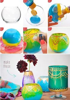 Oriental Nights Lighted with DIY Moroccan Candle Holders - http://www.amazinginteriordesign.com/oriental-nights-lighted-diy-moroccan-candle-holders/