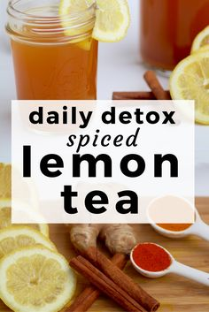start the day with this flavorful and healing lemon, ginger & turmeric detox t. - Tea News - Detox Detox Tee, Detox Tea Diet, Cleanse Detox, Detox Diets, Detox Foods, Juice Cleanse, Detox Cleanses, Lung Cleanse, Fruit Detox