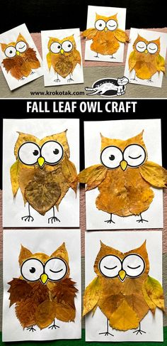 krokotak | FALL LEAF OWL CRAFT