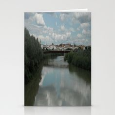 Toledo Spain River View Stationery Cards by Rosie Brown - $12.00 for pack of 3  #cards #stationery #toledo #spain #river #society6