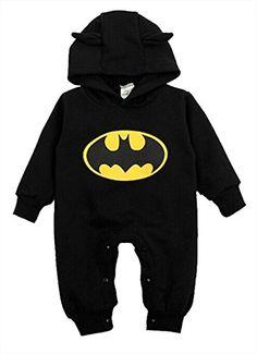 9dbdcd709733 3-24Months Newborn Boys Clothes Baby Batman Romper Outfits 2 Colors ...