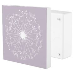 Grey Dandelions Outlet Cover