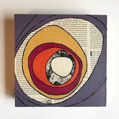 Collage art, paper collage art, paper art, abstract collage art, abstract home decor, collage artwork, collage art original, abstract wall art $52.00