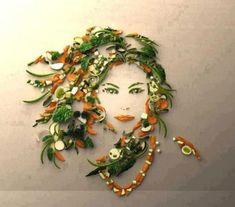 Amazing Examples of Food Art - veggies