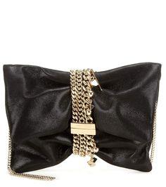 JIMMY CHOO Chandra Metallic Suede Clutch. #jimmychoo #bags #clutch #metallic #shoulder bags #suede #lining #hand bags