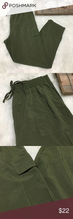 American Living Olive Green Track Joggers Pants Super chic and stylish American Living Olive Green Track Joggers Pants in excellent condition. Size medium. American Living Pants Track Pants & Joggers