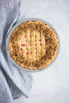 Strawberry and nectarine pie with a brown butter streusel- Cloudy Kitchen Easy Cookie Recipes, Dessert Recipes, Desserts, Nectarine Pie, All U Can Eat, Pudding Pies, Fruit Pie, Pie Crust Recipes, Pastry Blender