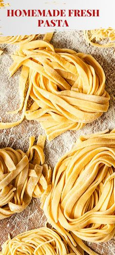 Would you like to learn how to make authentic Italian fresh pasta? It's the easiest thing in the world as the recipe only has 2 ingredients! Flour and eggs! Pasta Recipes, Dinner Recipes, Fresh Pasta, Homemade Pasta, 2 Ingredients, Summer Recipes, Food Dishes, Italian Recipes, Sweet Recipes
