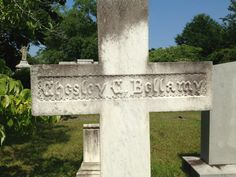 Chesley Calhoun Bellamy (1859-1880) Born 1859, Chesley Calhoun Bellamy was named after ardent states rights supporter and South Carolina native John C. Calhoun. Chesley attended Davidson College for awhile but contracted viral encephalitis. He died at age 21 while home on summer break. His gravestone pictured here is in the historic Oakdale Cemetery.