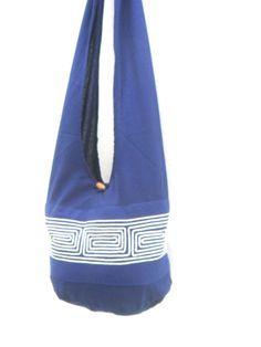 Shoulder Bag Bohemian Bag Blue Color Bag Messenger Bag Hippie Hobo Crossbody Bag Boho Purse Sling Thai art Gift Bag by Avivahandmade on Etsy