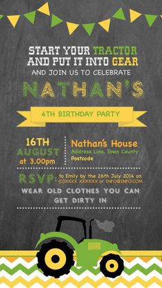 4th Birthday Invitation designed by me at Nic's Designs.