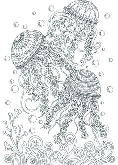 Adult Coloring Book Printable Pages For Adults Page Instant Download TREASURES Of The OCEAN