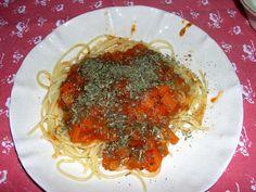 """Espaguetis """"pomodora"""""""