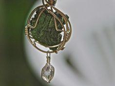 Moldavite Jewelry-Moldavite Pendant-Herkimer by herkimerjewelry
