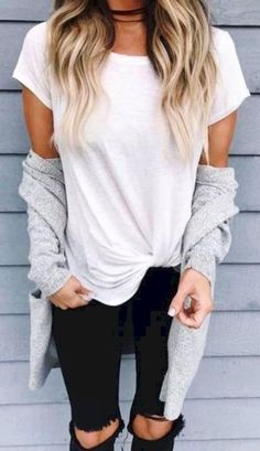 View our straightforward, comfortable & simply neat Casual Fall Outfit inspirations. Get influenced with these weekend-readycasual looks by pinning the best looks. casual fall outfits for women over 40 Casual Summer Outfits For Women, Cute Fall Outfits, Outfit Summer, Summer Jean Outfits, Casual Clothes For Women, Casual Women's Outfits, Basic Clothes, Casual Dresses, Look Casual Otoño