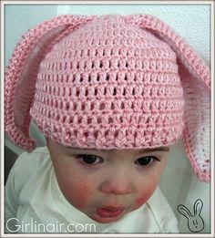 crochet bunny ear hat pattern