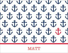 Personalized Anchor Repeat Note Cards