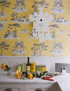Harlem Toile wallcover design