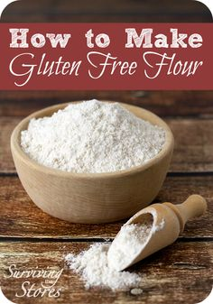 Simple Gluten-Free Flour Recipe! Use this recipe as a 1:1 replacement for recipes with regular flour!