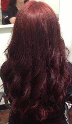 Brownish reddish hair
