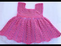 Vestido niña a crochet muy fácil y rápido - YouTube