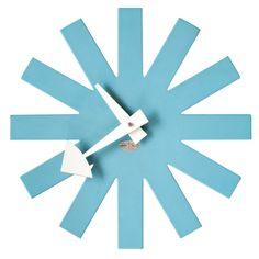 Blue Asterisk Clock designed in 1953 by George Nelson for Howard Miller.