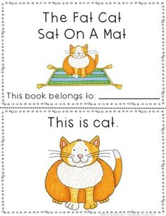 The Fat Cat Sat On A Mat Early Reader 1 Deal