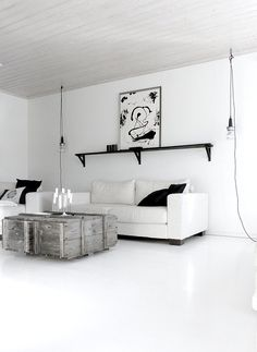 black and white living.