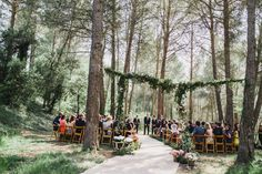 A dream wedding in the forest