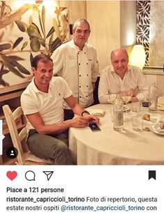 Post pubblicato dal #Ristorante #Capriccioli di #Torino con il #Mister #Allegri e #BeppeMarotta