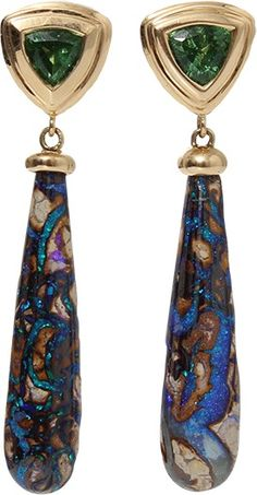 KATHERINE JETTER Australian Koroit Opal Drop Earrings