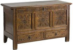 18th-C. Jacobean Carved Chest - One Kings Lane - Vintage & Market Finds - Furniture