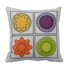 Bold Geometric Patterns and deeply rich colors bring a scientific feel to this decorative throw pillow. Customize it! Several shapes, sizes, and material options available!