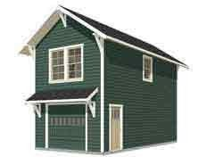 Garage Plans: Craftsman Style One Car Two Story Garage With Apartment - Plan 714-1apt