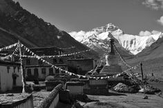 Pictures of the Himalayas: Mount Everest from Rongbuk Monastery by YoWangdu, via Flickr
