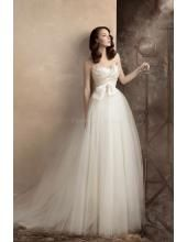A-linie Bodenlang Schönste Traumhafte Brautkleider aus Softnetz
