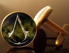 Bronze Antique de boutons de manchettes Creed Assassin