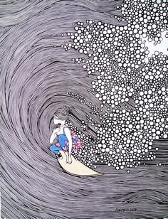 """PRINT SIZE: 7"""" X 9"""" WITH MATTING: 11"""" X 14"""" Ever since she can remember, Kris has wanted to be an artist. She filled notebook after notebook with her own invented characters and their stories. Her ear"""